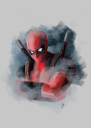 Deadpool by lucyreynoldsart