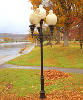 Crooked Lamp In A Park During Fall - Clearfield PA by RLS0812