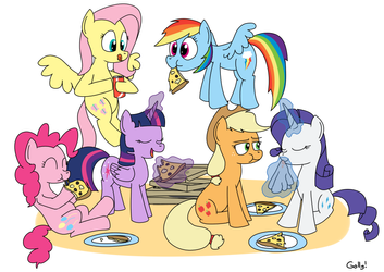 pizza party by RapidStrike