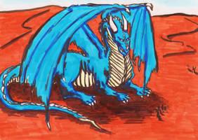 Khaharas THE Blue Dragon by phoenixdoll