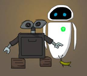 EVE and WALL-E by Jetrunner