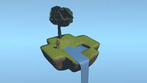 Simple Sky Island by Jetrunner