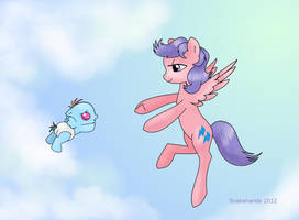 MLP Mama Firefly teaches baby Dashie to fly by snakehands