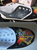 Harry Potter Shoes WIP by RonjaKnippers