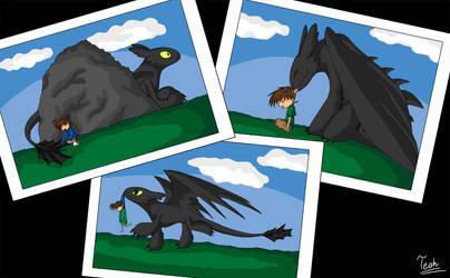 When a Dragon adopts a Tantei by FoxyTeah