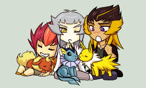 Team Ragnarok - Eeveelutions by KarniMolly