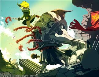 Zelda-Link Vs. Darknut by HeavyMetalHanzo