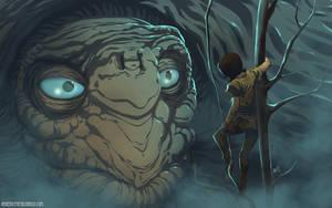 The Neverending Story-Atreyu finds Morla by HeavyMetalHanzo