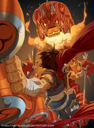 Strider Vs. The Emperor Dragon by HeavyMetalHanzo