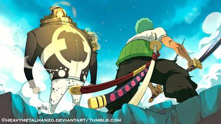 One Piece-Zoro Vs Kuma by HeavyMetalHanzo