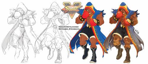 Street Fighter V-Balrog Process by HeavyMetalHanzo