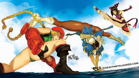 Street Fighter-Clash of the Girls by HeavyMetalHanzo