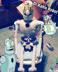 Cuphead plush: Dr. Kahls Robot w/ Dr. Kahl by clock-guy