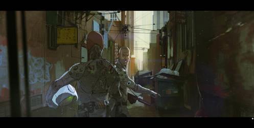 alley scene by bradwright