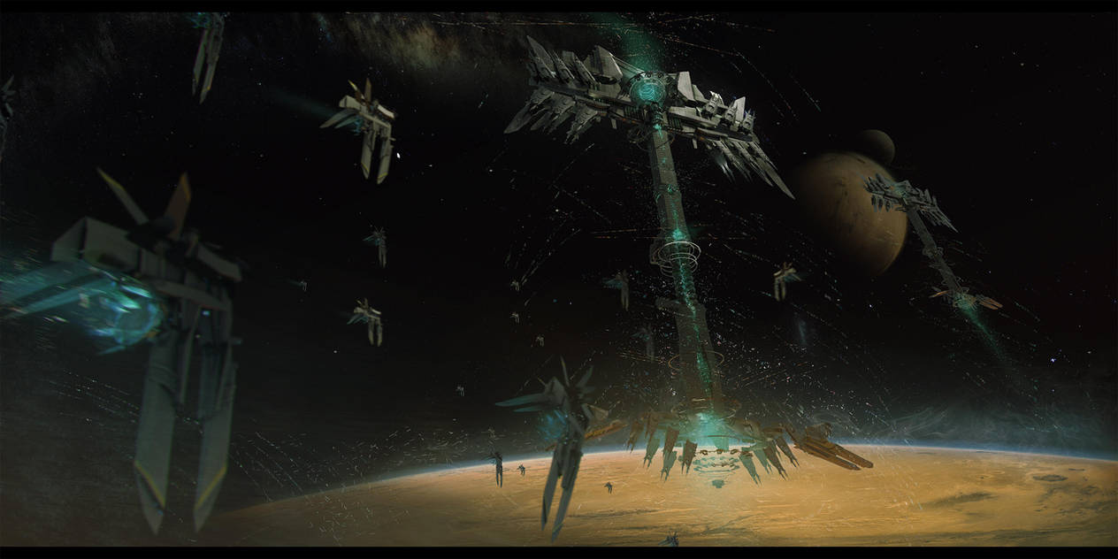 THE MAKER: Visions of Dune_ Heighliner concept by bradwright
