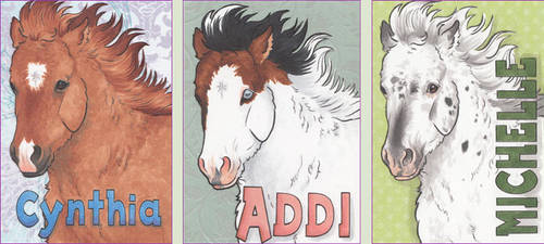 ACEO Name Tags, Set 4 by LesliKathman