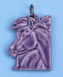 Ceramic Horse Pendant by LesliKathman