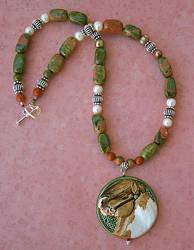 Celtic Pony Necklace by LesliKathman