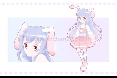 [CLOSED] Adoptable - Pink Purple Bunny by NicoleNinichan233