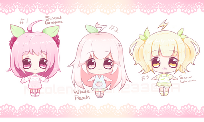 [CLOSED] $1sb Auction - Fruity Babies by NicoleNinichan233