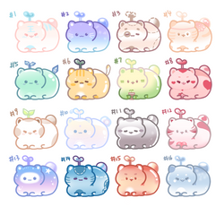 [OPEN] 100pts Adoptables - Cat Beans (6/16) by NicoleNinichan233