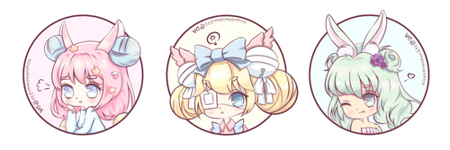[Gift] Chibi Buttons by NicoleNinichan233