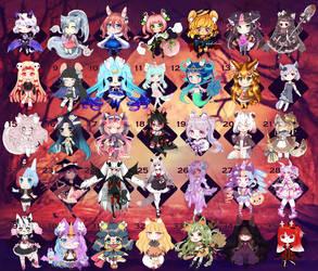 [OPEN] Fluffian Halloween Batch by NicoleNinichan233