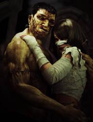 Frankensteins Monster meets the Mummy by RawArt3d