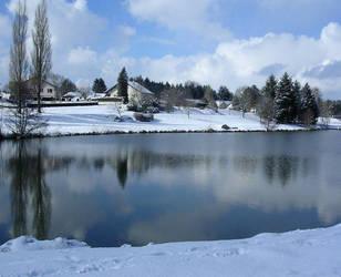 River in Winter by Darjeell