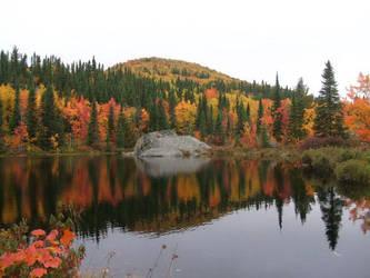 Lake in Autumn by Darjeell