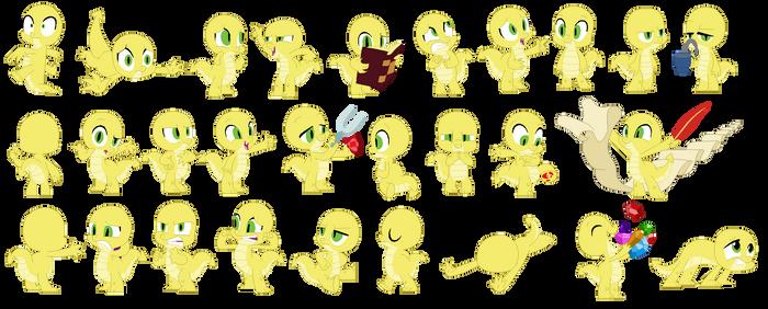 Ribbetlion's Baby Dragon Bases 5 by BoringBases