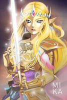 Queen Zelda Hyrule Warriors by Mikanpen