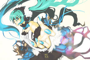 Miku Hatsune- 7th Dragon by Mikanpen
