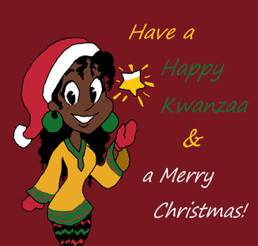 Merry Kwanzaa-mas (Holiday Card Project 2018) by RainiWeather