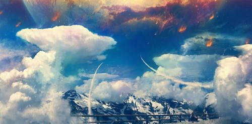 Raining Fire by ErikShoemaker