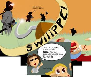 The Ninja vs. Pirate Debate. by Darki3-