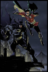 Batman and Robin by Jim Lee by juan7fernandez