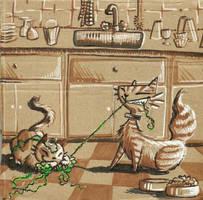 Cardboard :: Cats n Yarn by mayu