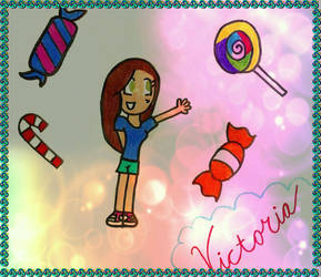VICTORIA LOVES CANDY!!! by XCartoonLoverX