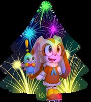 New Year fireworks by KetLike