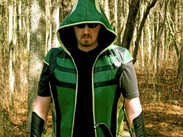Yours truly as Green Arrow by lovingthor