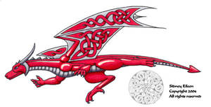 Celtic Knotwork Dragon by sidneyeileen