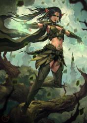 Mona The Forest Templar by DigitalSashimi