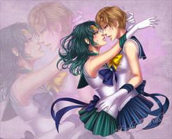 Sailor Uranus x Sailor Neptune by Gabbi