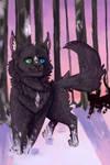 wolfy boi runs by BurntShady