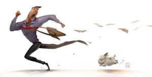 Hey Mr.Postman..Beware of savage dog! by Victorior