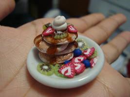 Mini Kiwi Strawberry Pancakes by knuxnbats