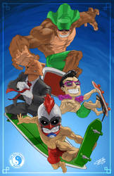 T and C Surf Designs Thrilla Crew by arsenalgearxx