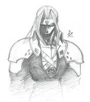 Peekaboo Sephiroth sees you by arsenalgearxx