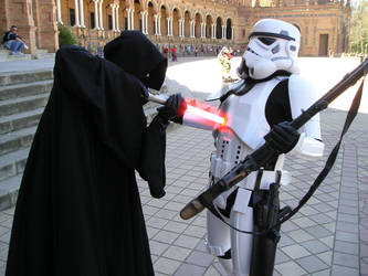 Lord Sith killing Stormtrooper by Gardek